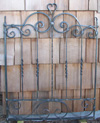 garden gate, forged iron
